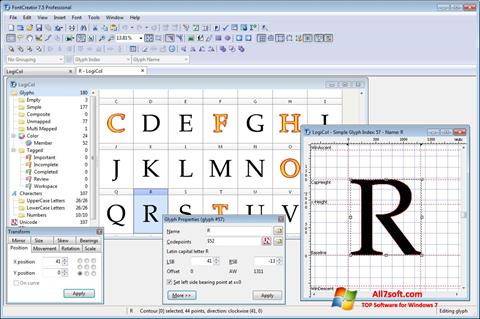 Screenshot Font Creator para Windows 7