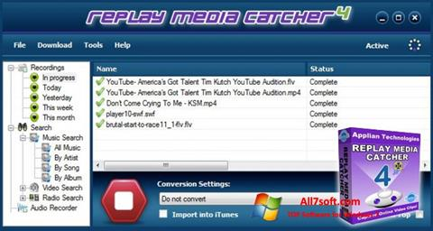 Screenshot Replay Media Catcher para Windows 7