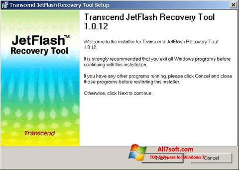 Screenshot JetFlash Recovery Tool para Windows 7