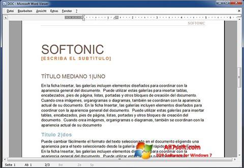 Screenshot Word Viewer para Windows 7