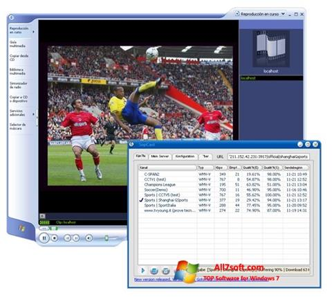 Screenshot SopCast para Windows 7