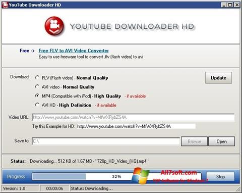 Screenshot Youtube Downloader HD para Windows 7