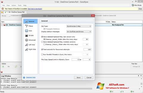 Screenshot GoodSync para Windows 7