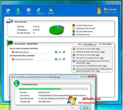 Screenshot Driver Detective para Windows 7