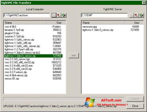 Screenshot TightVNC para Windows 7