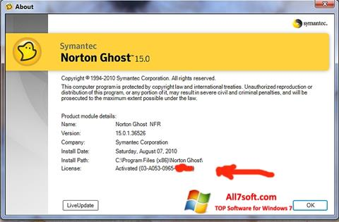 Screenshot Norton Ghost para Windows 7