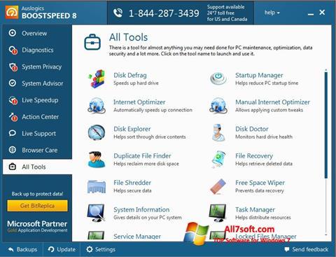 Screenshot Auslogics BoostSpeed para Windows 7