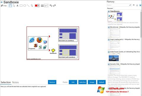 Screenshot Sandboxie para Windows 7