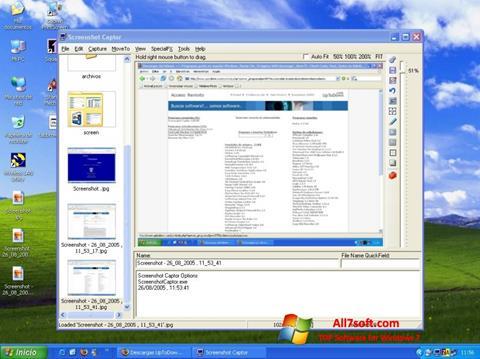 Screenshot Screenshot Captor para Windows 7