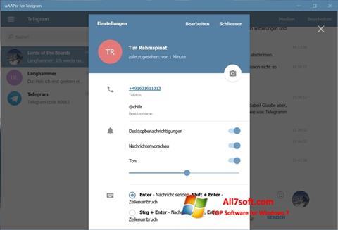 Screenshot Telegram para Windows 7