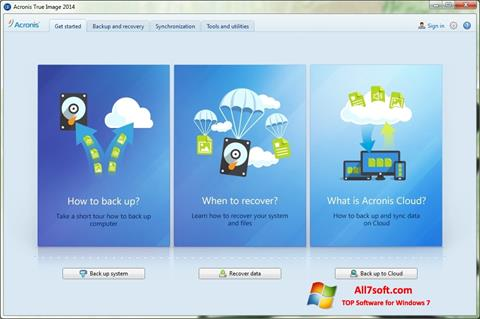 Screenshot Acronis True Image para Windows 7