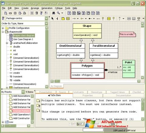 Screenshot ArgoUML para Windows 7