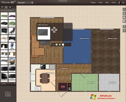 Screenshot Planner 5D para Windows 7