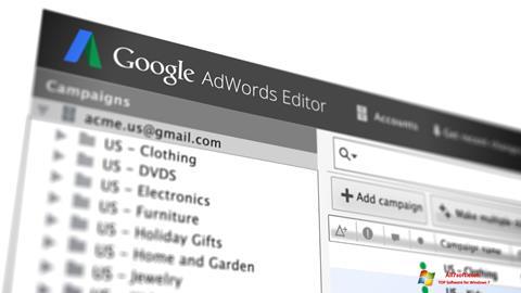 Screenshot AdWords Editor para Windows 7