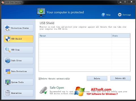 Screenshot USB Disk Security para Windows 7