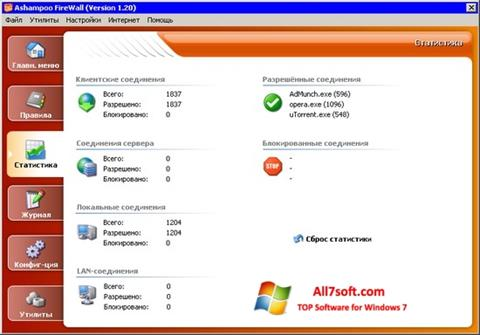 Screenshot Ashampoo Firewall para Windows 7