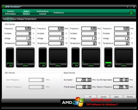 Screenshot AMD Overdrive para Windows 7