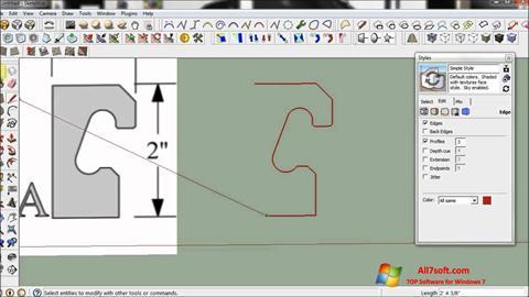 Screenshot SketchUp para Windows 7