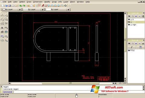 Screenshot QCad para Windows 7