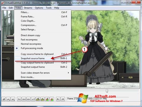 Screenshot VirtualDubMod para Windows 7