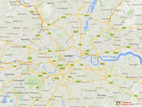 Screenshot Google Maps para Windows 7