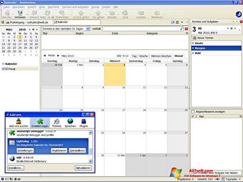 Screenshot SeaMonkey para Windows 7