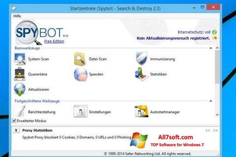 Screenshot SpyBot para Windows 7