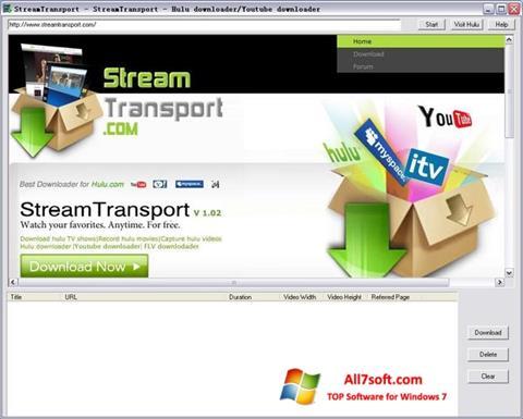 Screenshot StreamTransport para Windows 7
