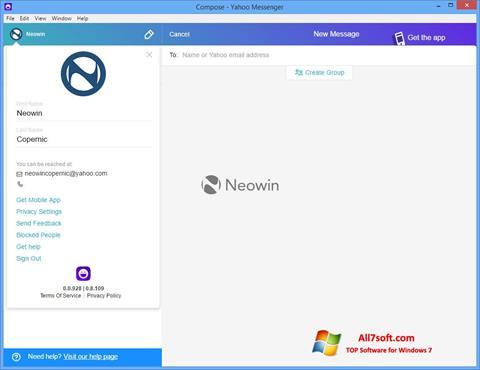 Screenshot Yahoo! Messenger para Windows 7