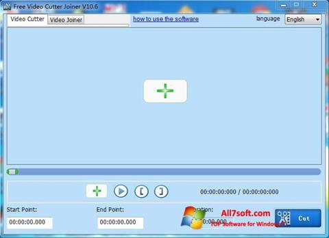 Screenshot Free Video Cutter para Windows 7