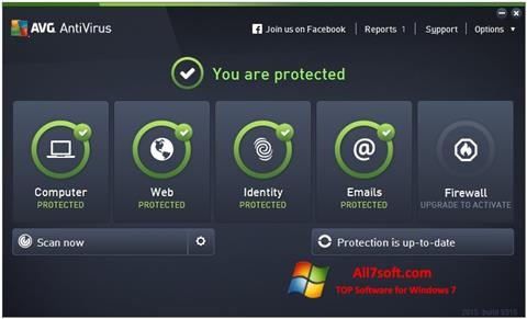 Screenshot AVG AntiVirus Pro para Windows 7