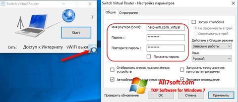 Screenshot Switch Virtual Router para Windows 7