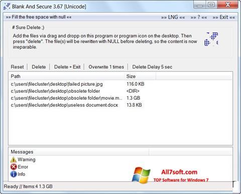 Screenshot Blank And Secure para Windows 7